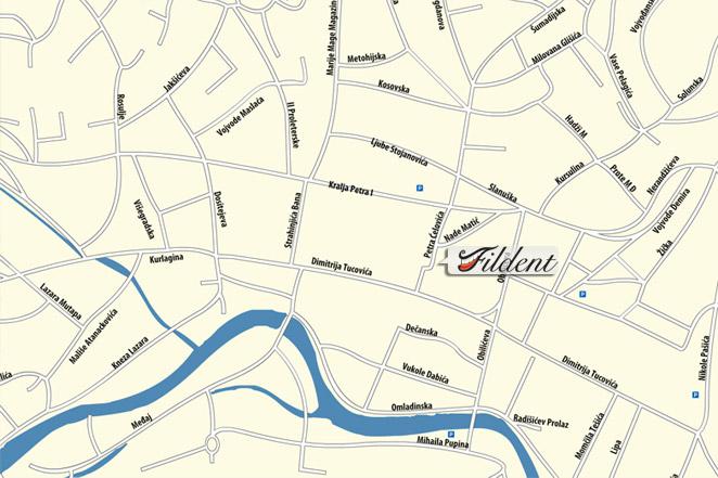 mapa uzica Dental Office Fildent, Užice | Contact Us mapa uzica